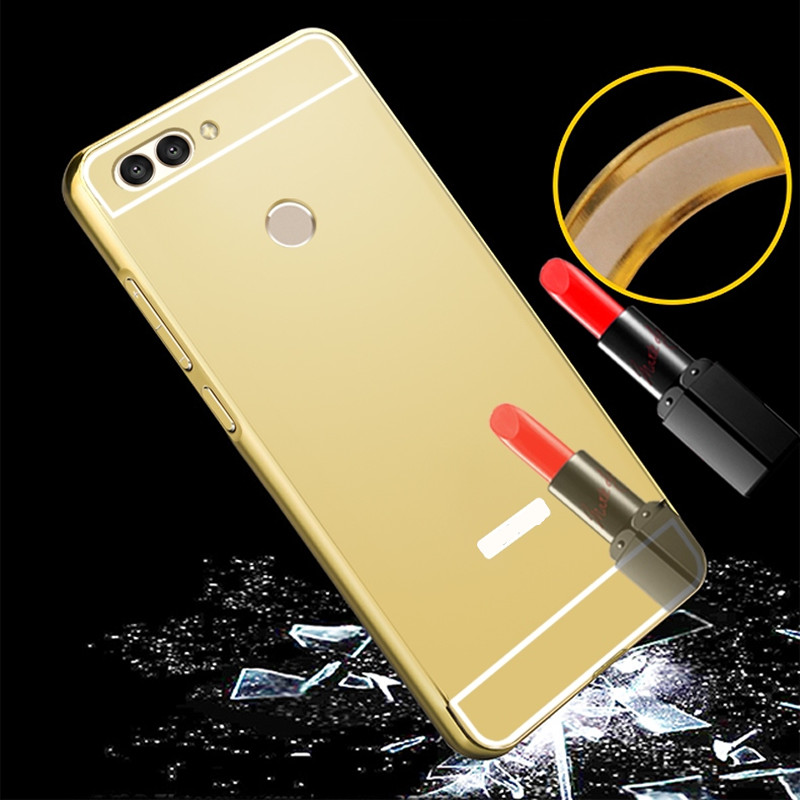 Case for Huawei Nova 2 plus Luxury Rose Gold Mirror case Back Cover for For Huawei Nova 2 PLUS 5.5 inch Phone case