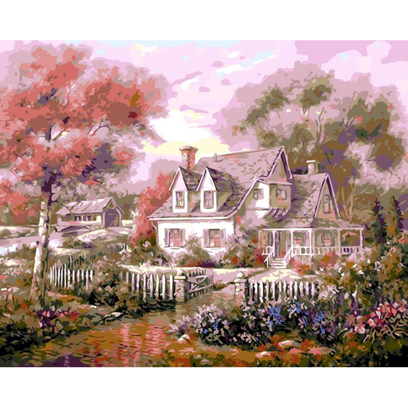 Landscape mosaic pictures painting by numbers diy europe for Country living customer service number