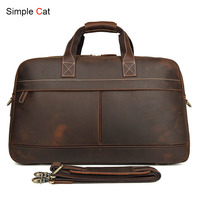 Мужские Винтажные Туристические сумки для путешествий большой емкости из натуральной кожи высокого качества мужские сумки мессенджеры до