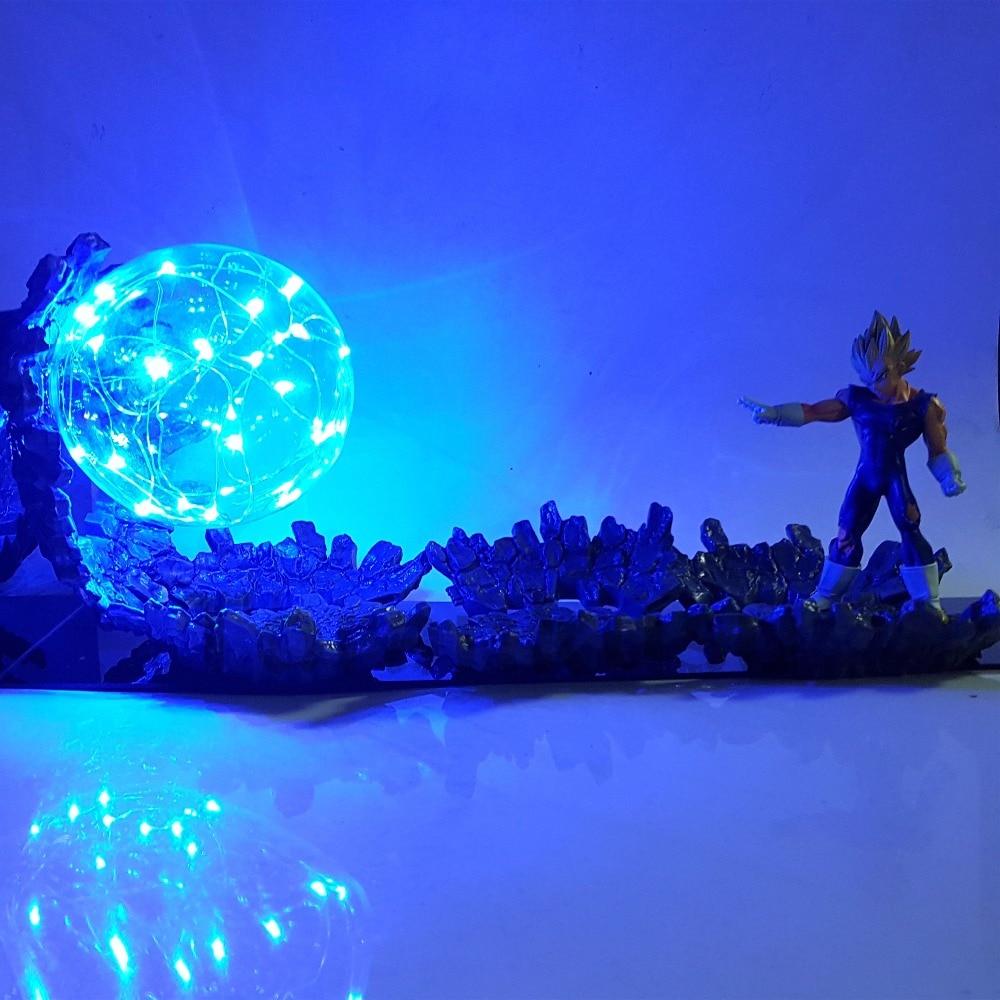 Dragon Ball Z Vegeta Super Saiyan Figurines Puissance Up Led Éclairage PVC Anime Dragon Ball Super Mal Vegeta Figurine DBZ