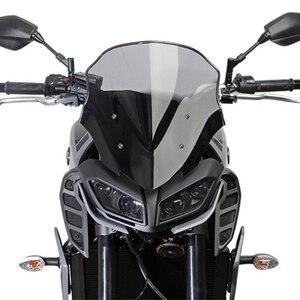 For Yamaha MT09 FZ09 MT-09 FZ-09 FZ MT 09 2017 2018 2019 Motorcycle Windshield Racing Windscreen Wind Deflector Visor pare-brise