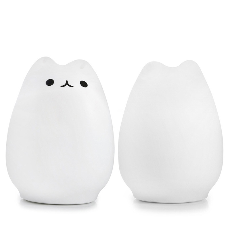 USB rechargeable LED Colorful Night Light Animal Cat stype S