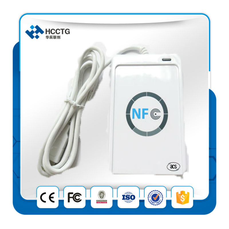 DHL FREE SHIPPING ISO 14443 USB NFC Card Reader + PC-linked Contactless smart card reader writer +RFID tag reader --ACR122U-A9