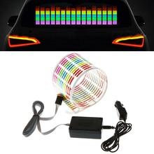 Автомобильный Стайлинг, автомобильная наклейка, музыкальный ритм, светодиодный светильник-вспышка, звуковая активация, эквалайзер, автомобильная наклейка, музыкальный ритм, светодиодный светильник-вспышка