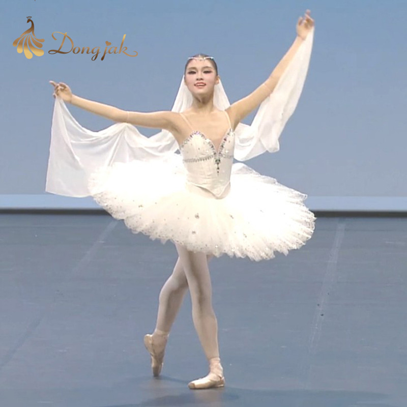 Adult Wear Ballet Dance Wear Skirt Tutu White Swan Lake Professional Gymnastics Show Clothing Dance Dress for Girls T-08