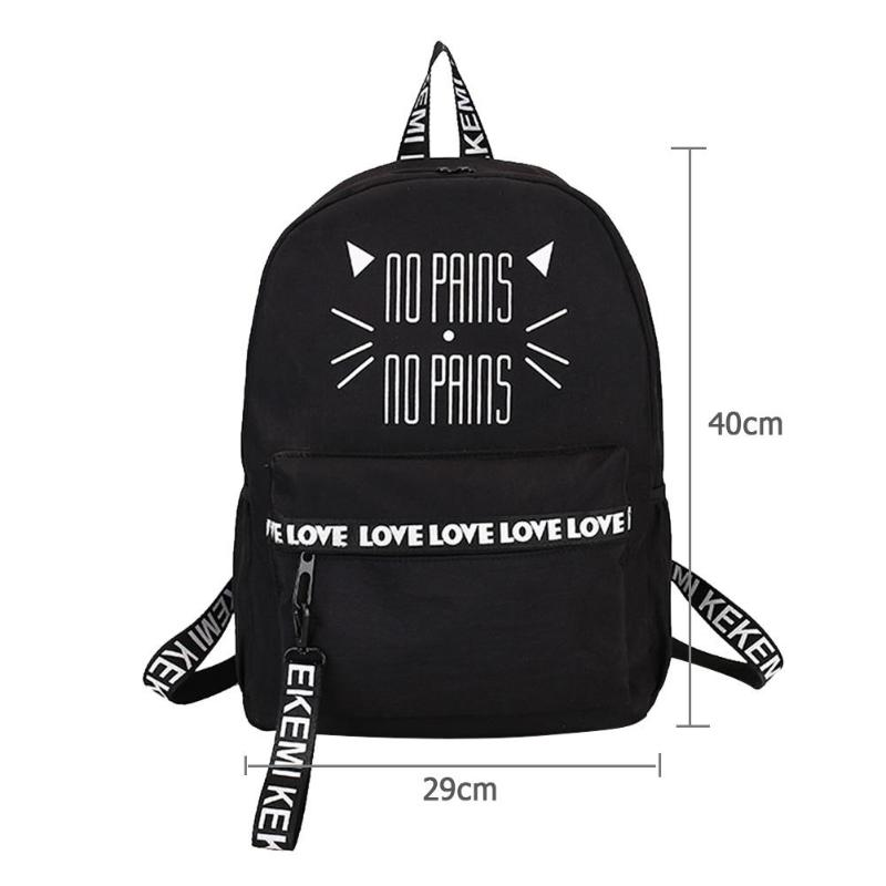 28b53740b8ac Cat Letters Printing Backpacks School Bags Women Nylon Teenager Girls  Students Book Shoulder Bags Features  The fashion version of the  type concise but not ...