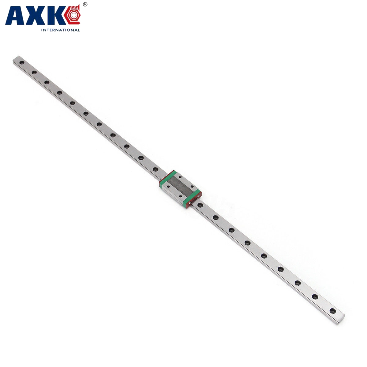 AXK CNC MR12 12mm linear guide NEW  technology   MGN12-L-350mm with MGN12C linear block with nigrescence the surface treatment axk mr12 miniature linear guide mgn12 long 400mm with a mgn12h length block for cnc parts free shipping