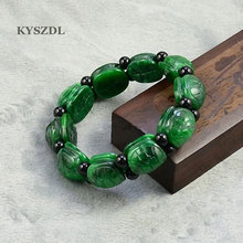 Natural jade stone emerald dragon tortoise shell bracelet male Women bracelets