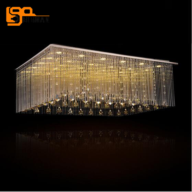 New Champagne Crystal Chandelier Led Modern Lighting Re Lamps