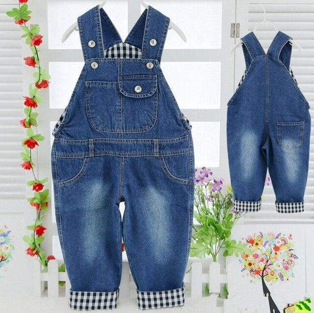 Весна новый 2017 лето bebe нагрудник причинная джинсовые детей брюки для мальчиков подтяжки комбинезоны брюки комбинезон розничная