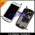 Free Shipping + Tracking No.  100% tested For Samsung Galaxy S3 Mini LCD i8190 Display LCD Touch Screen  Assembly with Frame
