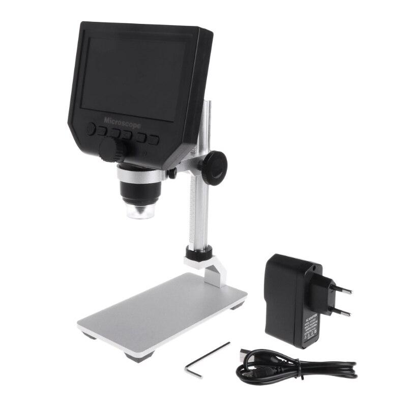 G600 4.3 LCD Numérique Microscope LED Zoom 1-600X 3.6MP HD Caméra Vidéo Enregistreur