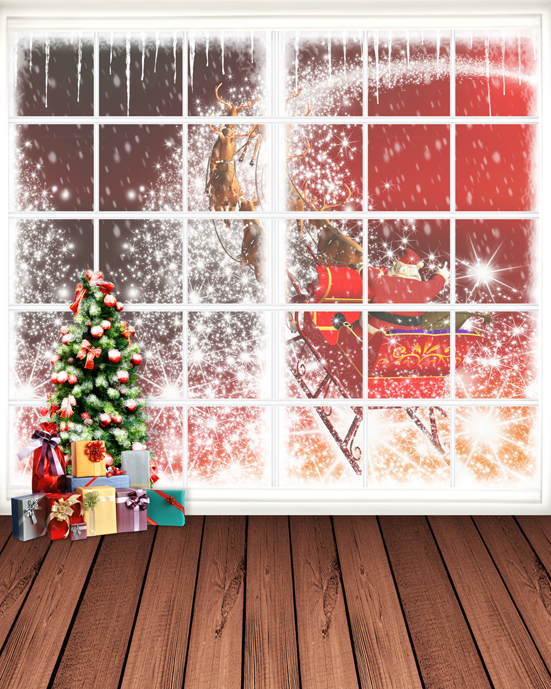 5x7ft Christmas Tree Gifts Santa Claus Photo Studio Props Christmas Backgrounds Vinyl Backdrops for Photography inflatable cartoon customized advertising giant christmas inflatable santa claus for christmas outdoor decoration