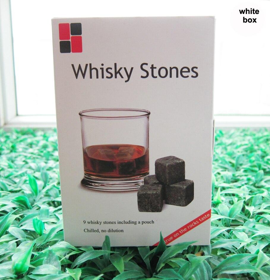 5 BAREV! Whisky kameny v dárkové krabičce, 150sets / lot, Velkoobchod vína popíjení kamene kostky ledu kameny, Den svatého Valentýna