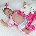 "22 ""Cute Silicona Muñecas Reborn Bebés para Dormir Realista realista Bebés Reborn Muñeca Juguetes Para Niñas Dulce Sueño de Peluche"