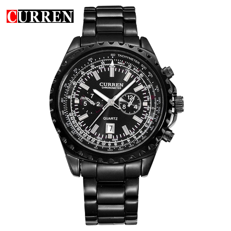 Buy curren watches men quartz watch relogio masculino luxury military for Curren watches