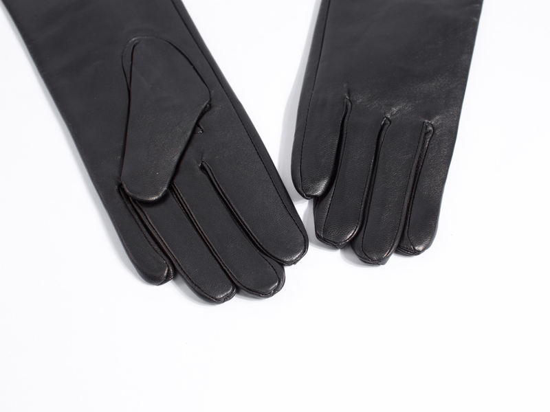 Image 4 - lady real sheep leather  super long shoulder long leather gloves black-in Women's Gloves from Apparel Accessories