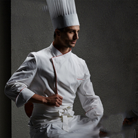 Workwear Long Sleeve Autumn Winter Hotel Hotel Kitchen Kitchen Apparel Western Cuisine Bakery Dress White Cotton