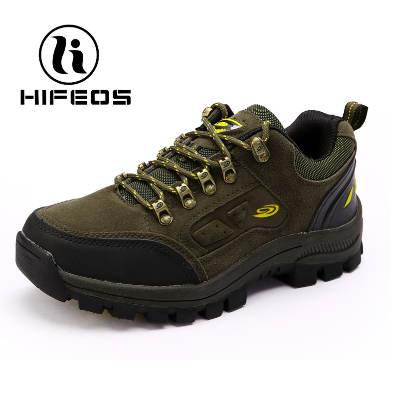 HIFEOS new outdoor shoes hiking shoes male couples lovers men and women sneakers non-slip boots trekking rubber bottom M084 цена и фото