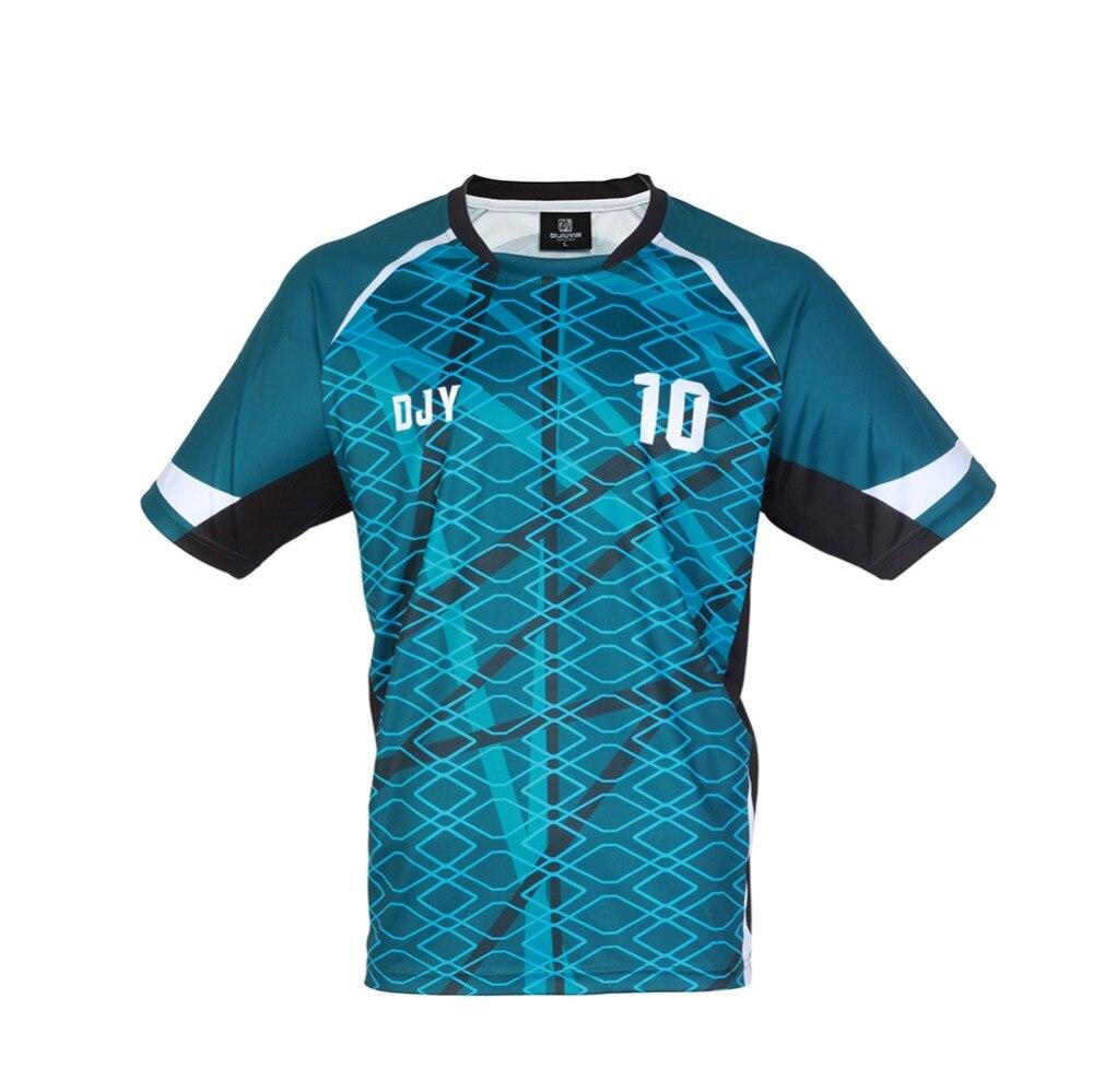 Men Striped Football Jerseys Team Sports Kit Soccer Jersey Sets Uniforms Shirts Kit Football DIY 2018