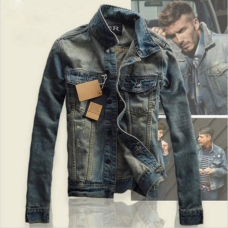 Popular Men Slim Fit Denim Jacket-Buy Cheap Men Slim Fit Denim ...