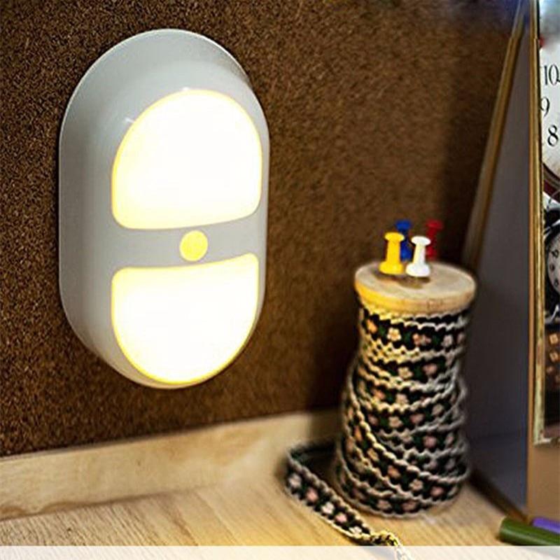 Dependable Led 0.7w Light Control Auto Body Motion Sensor Night Lamp Yellow Warm White Wall Light Emergency Indoor Lighting Bedroom Led Night Lights