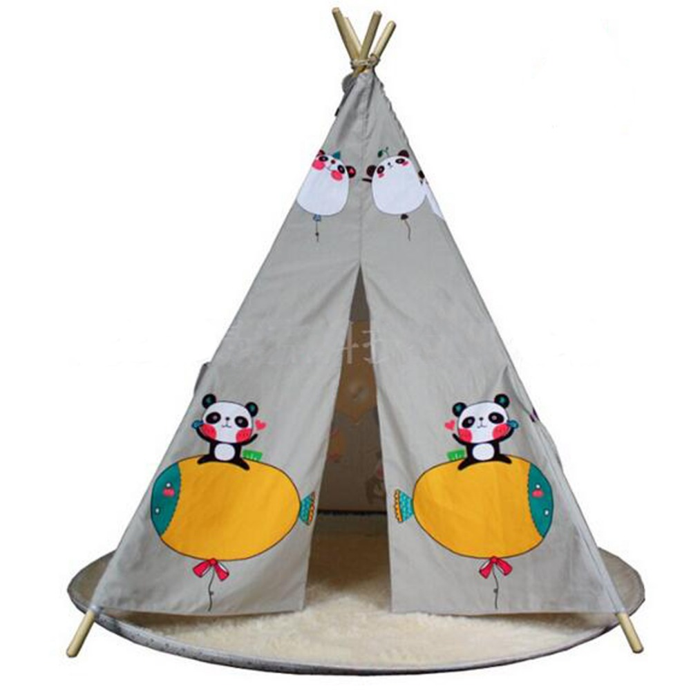 Princess house coloring games - Fessyc New Grey Color Indian Teepee Children S Indoor Princess Dollhouse Games Tent House Indian Wooden