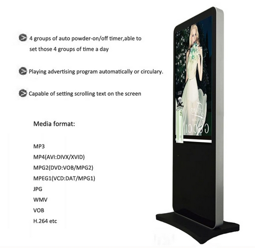 55 LCD/LED Kiosk Display Free Standing Digital Signage Advertising Player Electronic Signs55 LCD/LED Kiosk Display Free Standing Digital Signage Advertising Player Electronic Signs