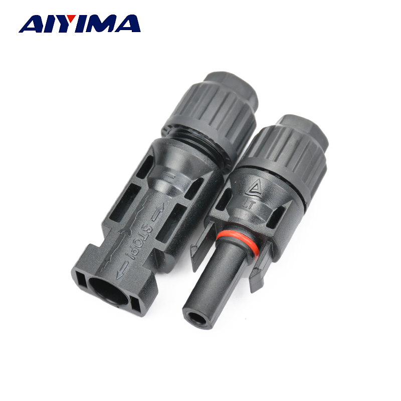 Aiyima 10 pairs MC4 Solar Panel Connector Male And Female Plugs MC4 Connector PV modules Photovoltaic Solar System Connector