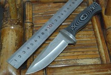 wilderness survival  tactical  straight knife fixed hunting knife with serrate blade 58HRC 5CR17