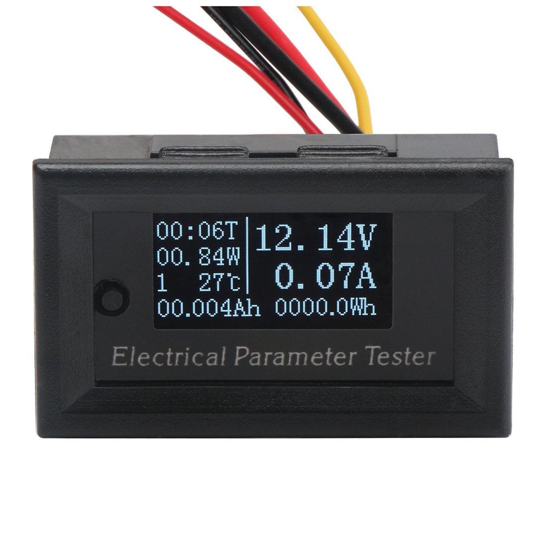 Практичный 7in1 OLED мультиметр Ампер Ёмкость Мощность энергии во время выполнения Температура <font><b>Meter</b></font> DC 33 В 10A Вольт Ампер Ватт метр 330 Вт