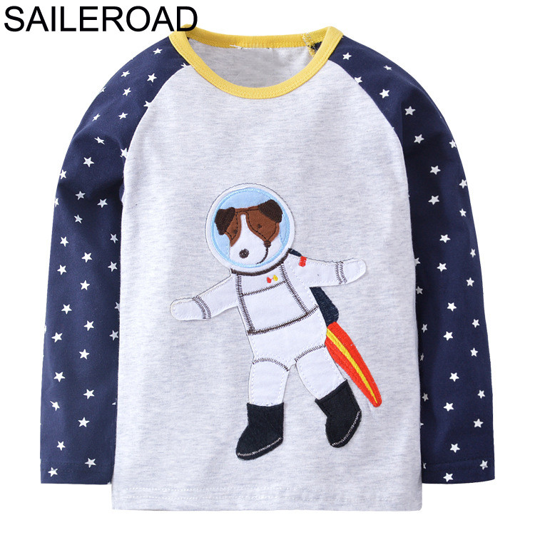 SAILEROAD 1-7age Animal Dogs Shirt with Long Sleeves for The Boys Tops 2018 Kid T Shirts Autumn Kids Shirts for Children ClothesSAILEROAD 1-7age Animal Dogs Shirt with Long Sleeves for The Boys Tops 2018 Kid T Shirts Autumn Kids Shirts for Children Clothes