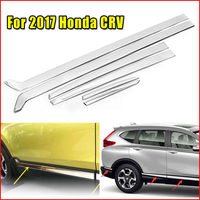 Car Styling Mouldings 6pcs Stainless Steel Door Side Line Cover Trim Garnish Strip For Honda CRV