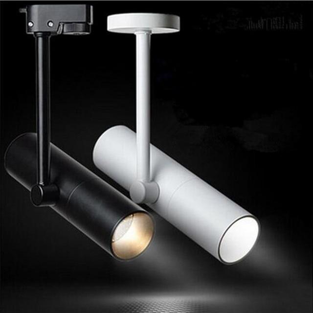 8pcs/lot 12W 15W LED Track Lights COB Warm White AC85-265V Aluminum Adjustable & 8pcs/lot 12W 15W LED Track Lights COB Warm White AC85 265V Aluminum ...