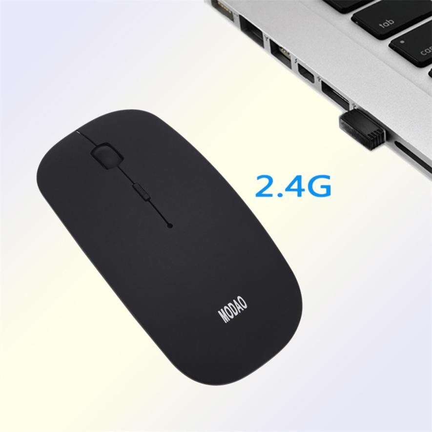 Super Slim Rechargeable 2.4G Wireless Mouse For PC And Laptop And Android Tablet NO20 Dropship