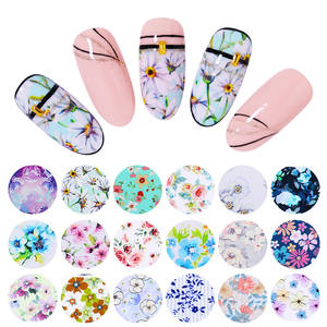 Paper Decals Transfer-Stickers Nail-Foils Leopard-Flowers Butterfly-Design 10-Rolls/Set