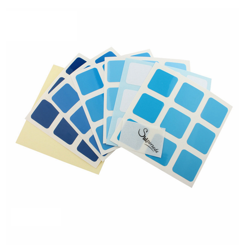 Supersede DIY Gradient Color PVC Cube Stickers for 57mm ...