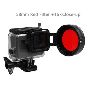 Image 5 - Underwater Lens Filter Red Filter 16X Close up lens 16 Times Macro Lens for GoPro Hero 7 6 5 Action Camera Diving Accessories