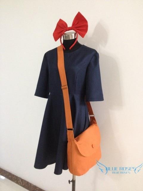 Kiki's Delivery Service Kiki Dress Cosplay Costume dress +headwear+ bag