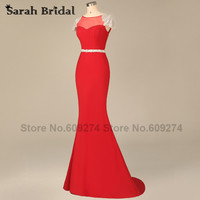 Sleeveless Mother Of The Bride Dresses 2015 New Arrival Long Mermaid Evening Dresses Black Crystal Floor Length Prom Gowns HY002