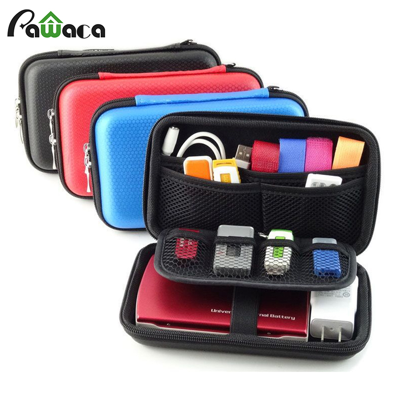 Universal Electronic Accessories Organizer EVA waterproof USB cable Storage Bag Case for Earphone Wire Flash Drives SD Bank Card