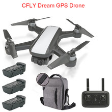DREAM Selfie Drone with GPS FPV Real-time HD Camera RC drones RC Quadrocopter RC Drone with RC toy 3battery and bag VS JJRC X9(China)