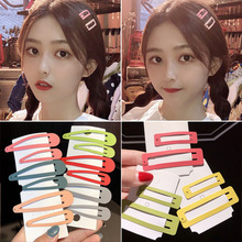2PCS/set Newnest Colorful Hairpins Metal Hair Clips Geometric Hairgrips Barrettes Ladies Headwear Woman Girls Accessories