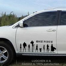 Autocollant de voiture une pièce, chapeau de paille, dessin animé pirate, stickers créatifs, étanche, réglage automatique, style 50cm 100cm D22