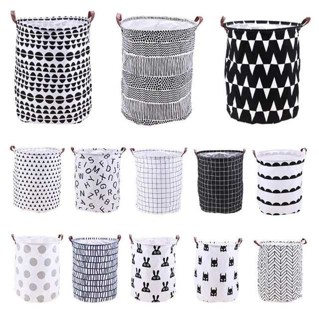 Online Shop Folding Laundry Basket Cartoon Storage Barrel Standing