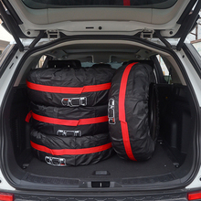 4Pcs/Lot Car Spare Tire Cover Case Polyester Auto Wheel Tires Storage Bags Vehicle Tyre Accessories Dust-proof Protector