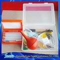 Accesorios para microscopios Kit biología experimento de la ciencia de sistemas de la caja del microscopio cubierta antideslizante 11 unid/caja