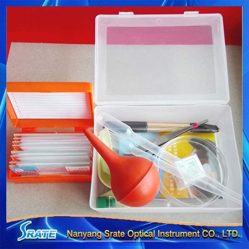 Microscope Accessories Kit Biology Science Experiment Sets Box Microscope Slides Cover Slip 11pc/Box  цены