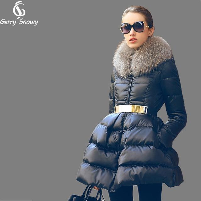 Down coat 2018 Doudoune femme New Luxury Fur Collar Womens down jacket Black/Red/Blue  Size S-XXL  Winter coat women 1