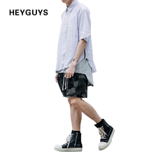 HEYGUYS  2017 US hip hop  oversize shirts fashion street wear sleeveness shirts man hot selling oversize